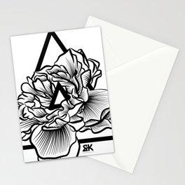 geometric flower design Stationery Cards