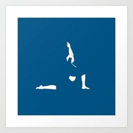 Yoga Practice — Anjaneyasana. Art Print
