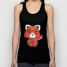 Jessica The Cute Red Panda Unisex Tank Top