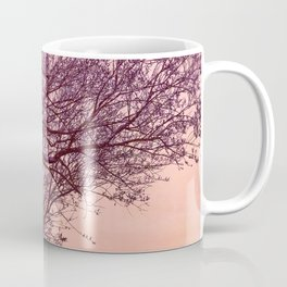 Purple Tree, Coral Orange Sky Coffee Mug