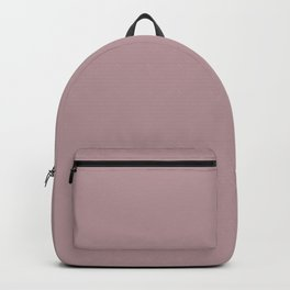 Dusty Rose Solid Backpack