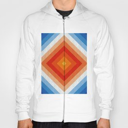 Blue and red fashion pattern II Hoody