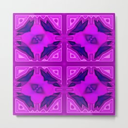Softly lilac ornamentation Metal Print