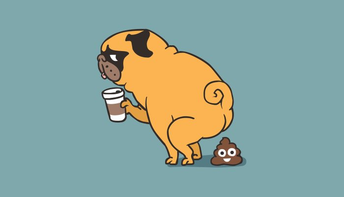 Coffee makes me poop Pillow Sham