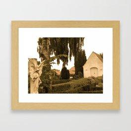 Peaceful Churchyard in Denmark I  Framed Art Print