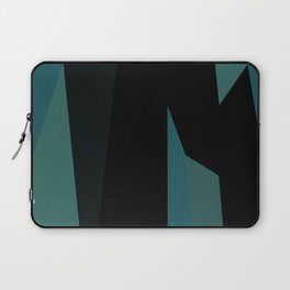 teal and black abstract Laptop Sleeve