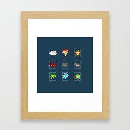 DRAGONS B - httyd Framed Art Print