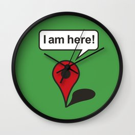 I am here! Google Maps Wall Clock