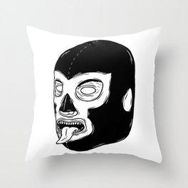 Black Luchador Throw Pillow