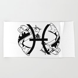 Pisces, the Fish Beach Towel