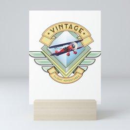 vintage flying logo. Mini Art Print