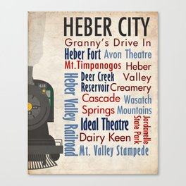 Travel - Heber City Canvas Print