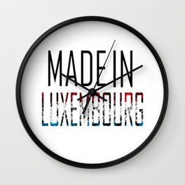 Made In Luxembourg Wall Clock