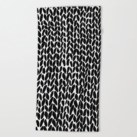 Hand Knitted Black S Beach Towel