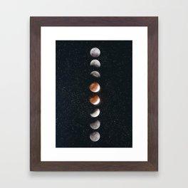 Phases of the Moon II Framed Art Print