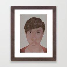 Silent I Framed Art Print