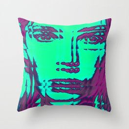 glitchy sqaure Throw Pillow