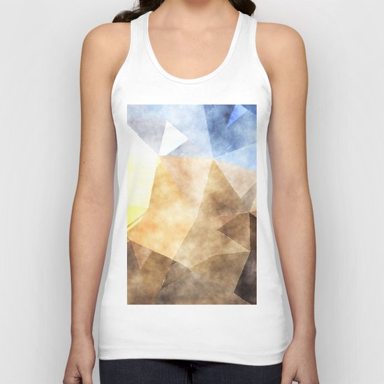 On the fields- Abstract watercolor triangle pattern Unisex Tank Top