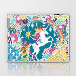 Rainbow Unicorn Hand-Cut Papercut Laptop & iPad Skin
