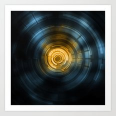 Ctrl.Sci 001: Heavy Ion Collider Art Print