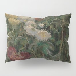 Gustave Caillebotte - Chrysanthemums in the Garden at Petit-Gennevilliers (1893) Pillow Sham