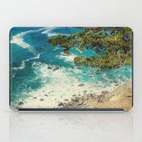 big sur iPad Cases featuring Big Sur - Sapphire Shore by Jenndalyn