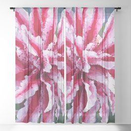 Double Stargazer Lily Low Poly Geometric Triangles Sheer Curtain