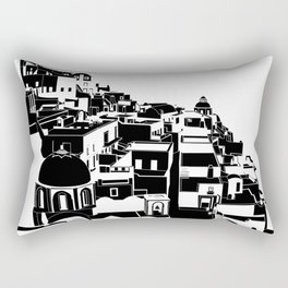 Fira Black and White Rectangular Pillow