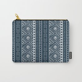 Navy Mudcloth Carry-All Pouch