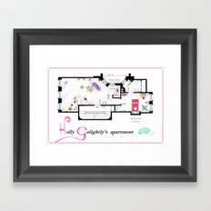 Breakfast at Tiffany's Apartment Floorplan v2 Framed Art Print