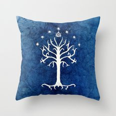 The White Tree Throw Pillow