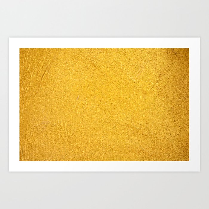 GOLDEN WALL / TEXTURE Art Print