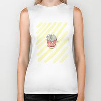 "french fries Biker Tanks featuring ""french"" fries by luoyunl"