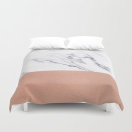 Marble Rose Gold Luxury iPhone Case and Throw Pillow Design Duvet Cover
