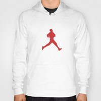 obama Hoodies featuring Obama Jumpman by Michael Rosenfeld