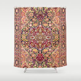 Esfahan Antique Floral Persian Rug Print Shower Curtain