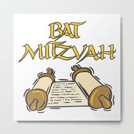 Bat Mitzvah with Scroll  Metal Print