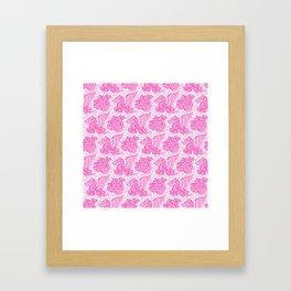 Pegasus Pattern Pink Framed Art Print