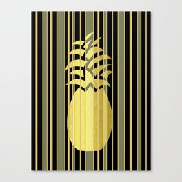 Pineapple And Stripes Canvas Print