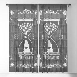 The Reader Tarot Card Sheer Curtain