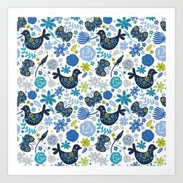 Birds and Flowers Art Print