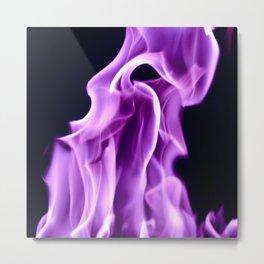 Purple Flame Metal Print