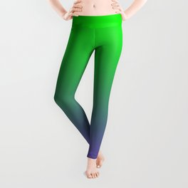UFO Green Proton Purple Ombre Gradient Neon Ultra Violet Green Pattern Shiny Soft Texture Leggings