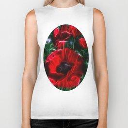 I love poppies Biker Tank
