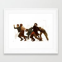 the breakfast club Framed Art Prints featuring Breakfast Club by MMCoconut