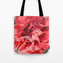 Red Flower Photograph Tote Bag