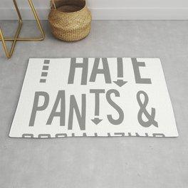 I Hate Pants and Socializing Rug