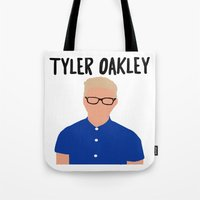 tyler spangler Tote Bags featuring Tyler Oakley by BethTheKilljoy
