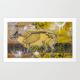Pig Skeleton Art Print