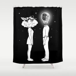 Day Dreamer Meets Night Thinker Shower Curtain